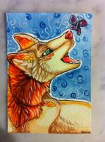 Iron Artist Challenge ACEO 22 by nightspiritwing