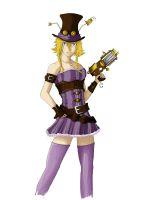 [Colo] Steampunk Girl by Neecow