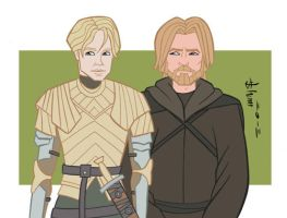 Game of Thrones - Brienne and the Kingslayer by howardshum