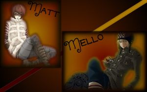 Matt and Mello Wallpaper by Azimoon
