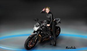 Kim TaeYeon - Ducati Street Fighter by raretak