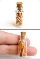 Mini Hot Dog Bottle Charm by Bon-AppetEats