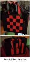 Reversible Duct Tape Tote by estranged-illusions