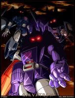 Galvatron and his lieutenants by WaywardInsecticon