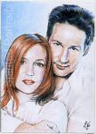 Mulder and Scully by Timedancer