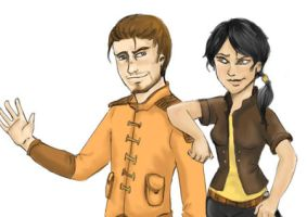 Carth and Revan 2 by Scila