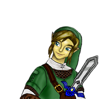 Link With that Look of His by SeafoamGlassMermaid