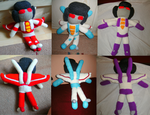 Transformer plushies - Seekerlet compilation by Crystal-Dream