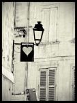 heart attached to a light by cetrobo