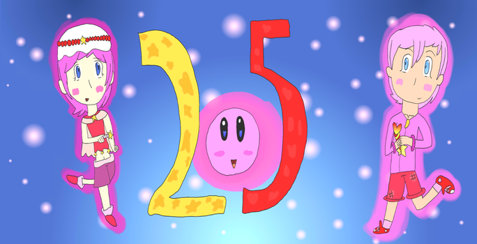 25 Years of Kirby by littlegirlfandom