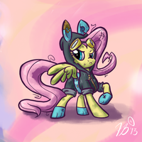Ponies in Clothes - Fluttershy by FlavinBagel
