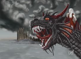Drogon and Dany by isbeidy