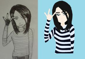 Kirsten before and after by wallflower2525