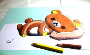 Rilakkuma Lay on My Sketch Book by SudiLin
