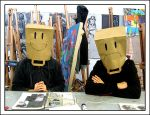 Bag heads by MeanGreenQueen