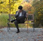 Man on Bench 1 by MLeighS