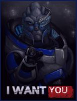 Garrus Wants You! by ryuuartist