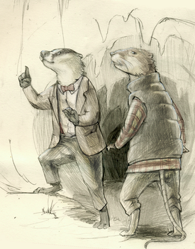 The Doctor is a Badger by bioluminescentbunny
