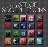 Social Icon Pack by mrsxausten