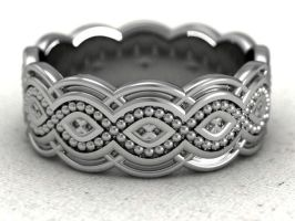 Celtic crisscross bead band by lupusk9