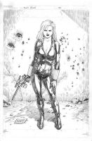 Black Widow - Pencils by edtadeo