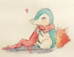 Cyndaquil by Mad-Scissors