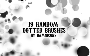 Random Dotted Brushes by Sarah-Dipity
