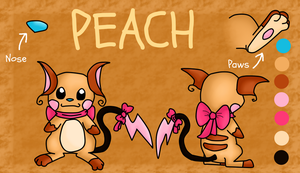 Peach Refence Sheet by Phewmonster