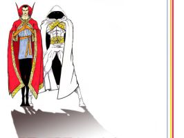 Dr. Strange and MoonKnight by BringerOfStorms