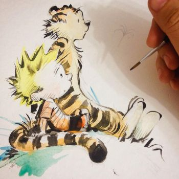 CALVIN and HOBBES by eDufRancisco