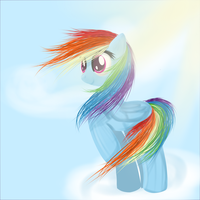 Rainbow dash in the wind by MoonShardDragon