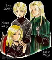 DH_Malfoy Family_ by Rusneko