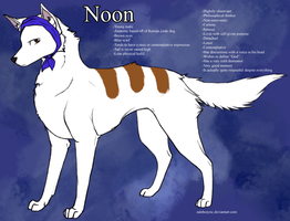 Noon ref sheet by Zaleho
