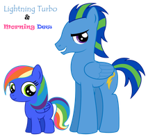 Lightning Turbo and Morning Dew by DivineSpiritual