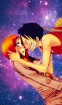 Luffy x Orihime by Orihiime-Inoue