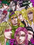 [Fanart] JoJo and BLEACH: My favorite characters by MotiNeco