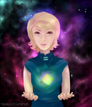 Roxy in Space and A Cube,, Also in Space by OBatCatGirlO