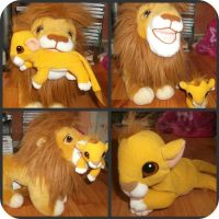 My Mufasa Nd Simba Plush Set by DrOpDeAdShElLy