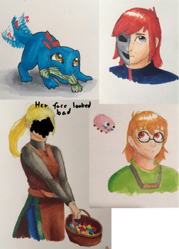 Copic doodles by Eldritch-Dragon