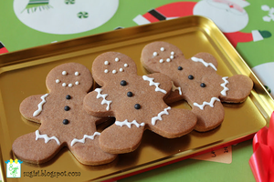 'Gingerbread' Men Cookies by SugiAi