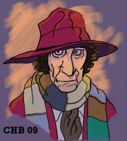 4th Doctor bust colored by Rashomonchb