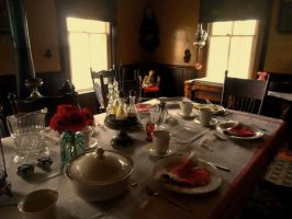 Sunday Supper 1889 by Jamesbaack