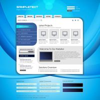 Vector Business Website Template 9 by phyllis-L