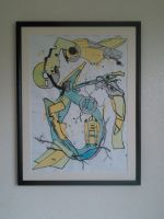 Snake Abstract: framed and mounted by andrea-gould