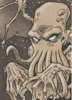 Cthulhu - sketchcard by Steevcomix