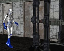 Mechanical Gynoid Scanner 01 by NukuNookee