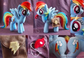 Rainbow Dash with saddle bags and whistle details by Zorza-6
