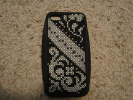 iPhone 5 Cross Stitched Case by LunarPhoenix87