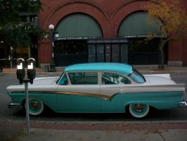 Vintage Turquoise Car by penny-duchess-stock