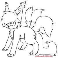 Long Haired Snare Cat Base #1 by 4DAMANT